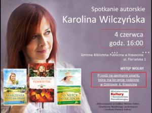 Wilczyńska Karolina spotkanie 4 czerwca plakat