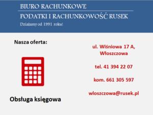 Rusek biuro rachunkowe reklama