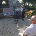 Narodowe Czytanie 2019 z pisarką Moniką Sawicką - czytają uczennice ZPO w Bukowie
