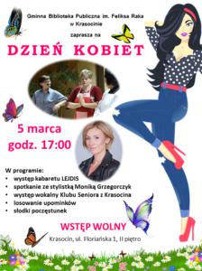 Zaproszenie Dzień Kobiet 2020 Krasocin