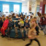 Spotkanie z uczniami ze szkoły w Cieślach